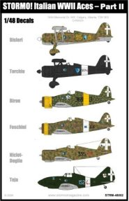 Stormo Italain WWII Aces Part II Decals - STRM48002