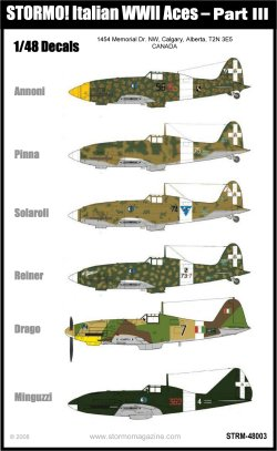 Stormo Italain WWII Aces Part III Decals - STRM48003